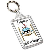 Funny Rude Keyring- Anniversary/la Saint Valentin/amour/cadeau d'anniversaire pour elle ou Lui–I F * * king Love You et I love F * * king