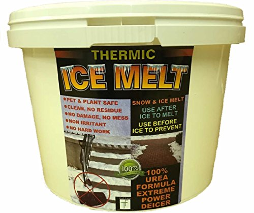 THERMIC SNOW and ICE MELT- Child and Pet Safe - Powerful and Magic Ice Melt With 100% Urea. Non Corrosive. Non Salt. No Mess, No Residue, No Damage, No Fuss. Thermic Ice Melter for Home and Business. (2 KG)
