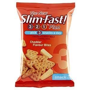 SlimFast Cheddar Bites Snack Bag 22 g - Pack of 12