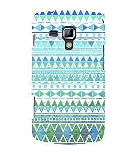 Decorative Diamond Design 3D Hard Polycarbonate Designer Back Case Cover for Samsung Galaxy S Duos S7562