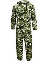 Combinaison pyjama capuche en polaire motif l opard homme caramel taille s xl - Combinaison polaire homme ...