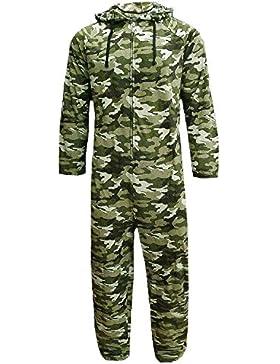 Mono jumpsuit para hombre, con forro polar, capucha, camuflaje, tallas chica a extra grande