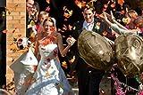 Luxbon 100 Stück künstliche Herbst Ahornblätter Wandbild Türschild Hochzeit Party Deko verschiedene Farben und Größen - 6