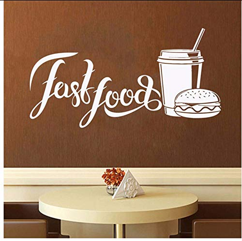 Lvabc 42X79 Cm Fast Food Wand Declas Shop Logo Wand Fenster Aufkleber Bäckerei Und Backwaren Home Küche Wandtattoo Fenster