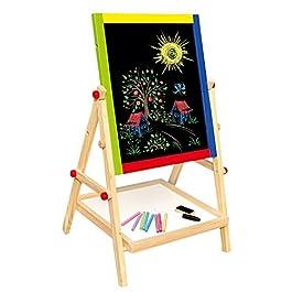 Bino 83653 – Lavagna magnetica 2 in 1 per bambini in legno