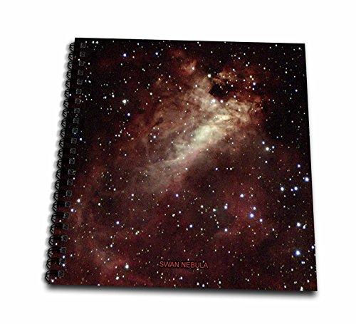 3dRose Galaxy & Nebula - Swan Nebula - Mini Notepad, 4 by 4-Inch (db_76813_3)