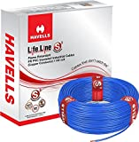 #8: Havells Lifeline Cable WHFFDNBA11X0 1 sq mm Wire (Blue)