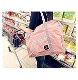 Faltbare wiederverwendbare Einkaufstasche Einkaufstasche Einkaufstasche Faltbare Tasche, praktische Handtaschen, Reisetaschen, Schultertasche, wasserdicht, große Kapazität, himmelblau, 48 x 32 x 16cm