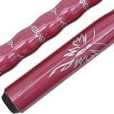 Hermosa Hombres de las mujeres de madera palo de billar taco de billar de arce de 2piezas - B11, vino 58'' 19-21oz 13mm