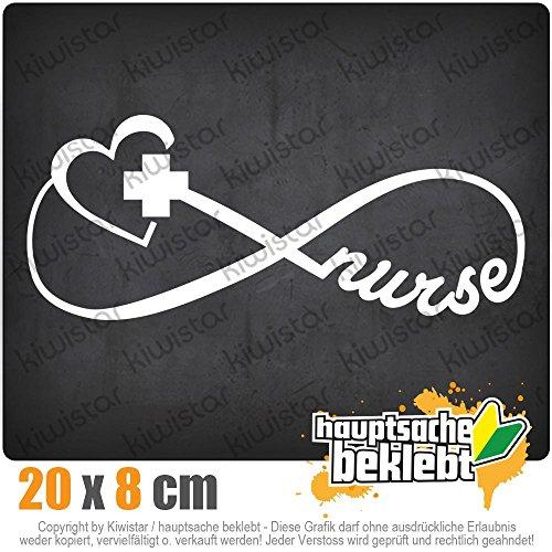 KIWISTAR Krankenschwester - Nurse 20 x 8 cm IN 15 FARBEN - Neon + Chrom! Sticker Aufkleber -