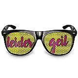 COOLEARTIKEL Partybrille Motiv Leider geil  beklebte Sonnenbrille  Spaßbrille für Mottoparty  Atzenbrille/Fliegerbrille mit UV-Schutz  UV 400 Filter 3  Schwarz