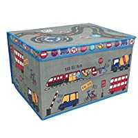 Country Club Large Collapsible Jumbo Storage Box Folding Storage Chest Kids Room Tidy Toy Box