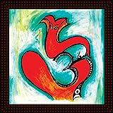 Tamatina Framed Painting - HD Quality Ganesha Framed Painting - Wooden Texture Frame - Import Quality UV Paper - Paintings For Living Room - Diwali Paintings - Paintings For Gifts - Size 12 Inch X 12 Inch (30x30 Cms)