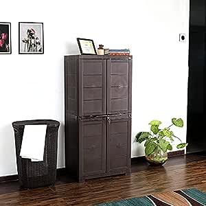Cello Novelty Plastic Big 2 Door Cupboard - Brown