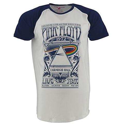 Pink Floyd Carnegie Hall blanc Raglan T-shirt Officiel Autorisé La Musique