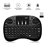 GooBang Doo Mini clavier sans fil 2,4GHz avec pavé tactile et souris pour Android TV BOX, Smart TV, mini PC, HTPC, console, ordinateur–Noir