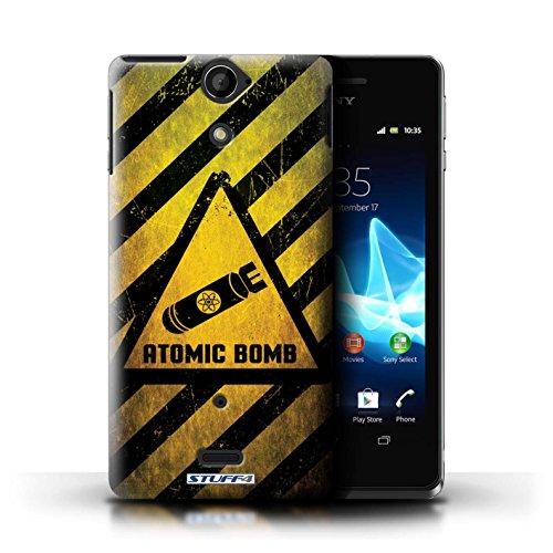 Coque de Stuff4 / Coque pour Sony Xperia V/LT25i / Décès/Faucheuse Design / Signes de Danger Collection Bombe Atomique