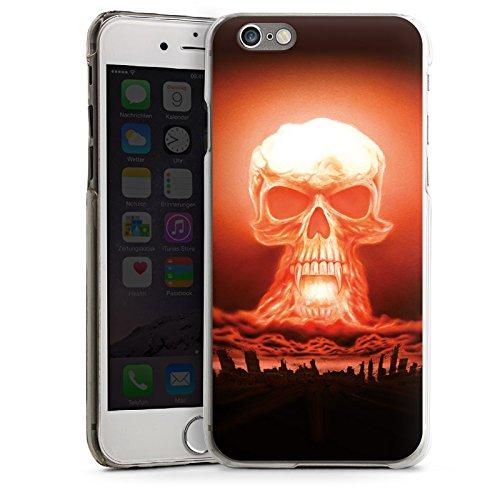 Apple iPhone 5 Housse Étui Silicone Coque Protection Explosion Tête de mort Ville CasDur transparent