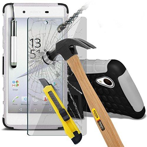 (Clear) Fall für <b>      Apple iPhone 6s hülle     </b>     Fall hochwertiges und haltbares Survivor TPU Clear Gel Case Hülle+ gehärtetes Glas Display-schutzfolien von i-Tronixs Shock proof +Glass (White)