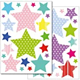 Wandkings Sterne mit Muster Wandsticker Set