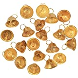 Asian Hobby Crafts Golden Metal Bells Used For Hobby Crafts And Other Craft Works (Pack Of 25, 1.5cm)