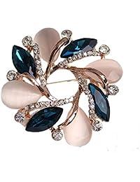 8438a8918a49 ECYC Moda Cristal Bauhinia Mujer Broche Para Ropa De Las Mujeres Vestido  Decorativo Pin