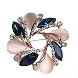 Moda Cristal Bauhinia Mujer Broche Para Ropa De Las Mujeres Vestido Decorativo Pin