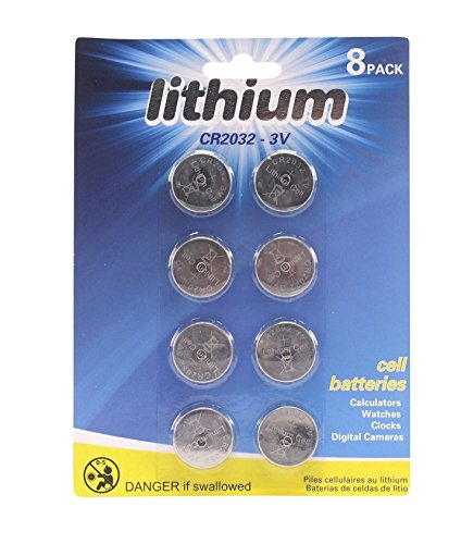 Price comparison product image (Pack of 8) 3v Lithium Watch Button Battery (CMOS, BIOS, MOTHERBOARD)