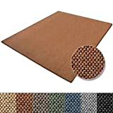 Teppich Sabang | viele Farben und Größen | Flachgewebe, Sisaloptik | Qualitätsprodukt aus Deutschland | GUT Siegel | für Wohnzimmer, Kinderzimmer, Flur etc. (terra, 66x130cm)
