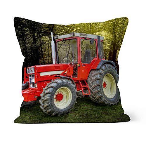 fotobar!style Motivkissen 40 x 40 cm mit Füllung Oldtimer Traktor McCormick