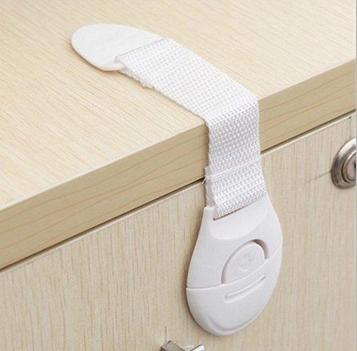 KiKa Monkey 10 Stück Schrankschloss Kindersicherung Ecke-Schlösser ohne bohren Baby Sicherheitsschloss
