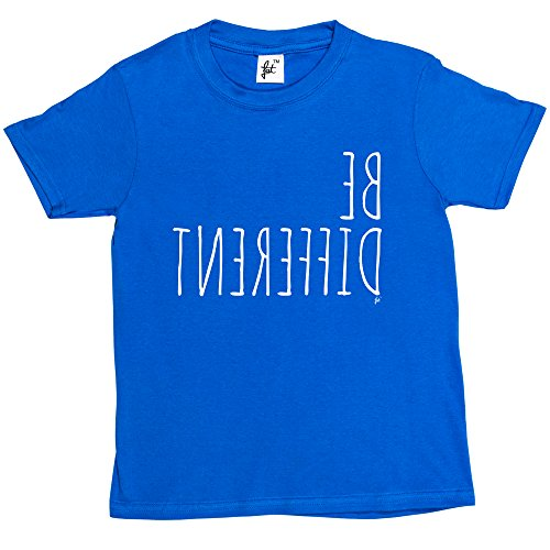 be-different-unique-personality-kids-boys-girls-t-shirt-size-9-11-year-old-colour-royal-blue-christm