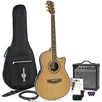 Guitare Électro-Acoustique Roundback + Pack Ampli 15 W Natural
