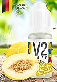 V2 Vape E-Liquid Honigmelone - Luxury Liquid für E-Zigarette und E-Shisha Made in Germany aus natürlichen Zutaten 10ml 0mg nikotinfrei
