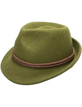 Alpenflüstern Herren Trachten-Filzhut braune Kordel ADV06300L50 grün