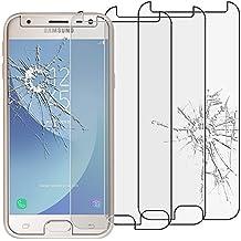 ebestStar - Samsung Galaxy J3 2017 SM-J330F [Dimensiones: 143.2 x 70.3 x 7.9 mm 5''] - Pack x3 Película protectora de pantalla de Vidrio Templado - Cristal protector [Importante Leer descripción]