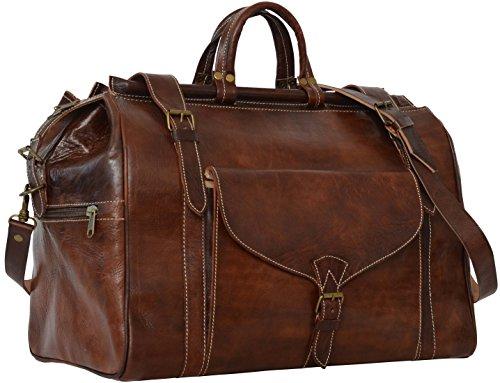 """Gusti Cuir nature """"Adam"""" sac de voyage bagage à main bagage cabine Macbook-Pro 15"""" sac de sport sac en bandoulière sac avec anses sac porté épaule cuir naturel véritable marron R19b"""