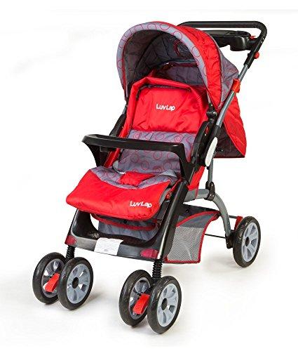 LuvLap Baby Stroller Pram Cruze Red