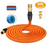 Garden Hose, Tacklife GGH1A 50 FT Expandable Flexible Magic Hose Pipe/ Self-locking Connecting/