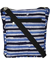 Rustic Blends Women's Sling Bag (Blue & Black)