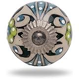 Round Ceramic Talid Knob Chrome Finish