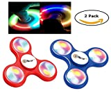 Top Race Fidget Spinner, Spielzeug mit LED-Lichtern, 2er-Set