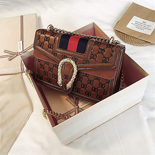 NSSTB Pu Weibliche Tasche Schlangenkopf Kleine Quadratische Tasche Umhängetasche Messenger Bag Handtasche Zu Senden Freundin Geburtstag Gift25X16X9Cm, Stil Eine