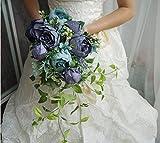 Hochzeit Bouquets Künstliche Braut Blumen Hochzeit Weiß Wasser Tröpfchen Wasserfall Hochzeit Blumen Braut Bouquets