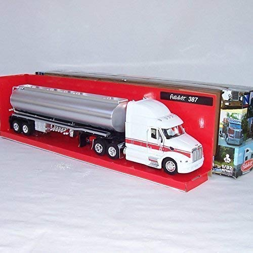 LKW Maßstab 1:32 Peterbilt 387 neu Lastwagen weiß + silber ()
