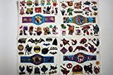 wolga-kreativ Kinder Tattoo Set ( mehr als 80 Tattoos!) für Jungs Junge Ato Held Superheld (temporäre Transferfolie, hautfreundlich) Kindertattoos temporär Haut