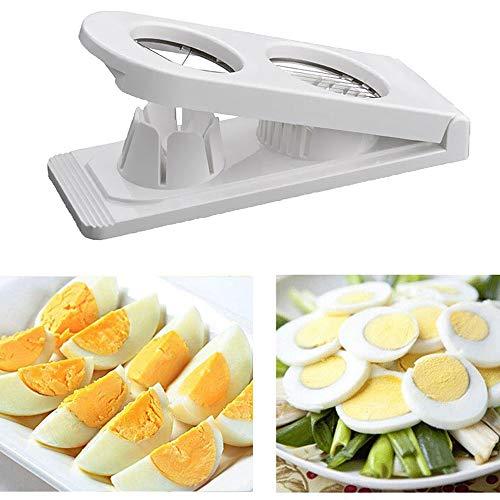 KOBWA Cortahuevos Cortador para Huevos, Cortador de Huevos Cocidos sección de huevo Slicer Cortador...