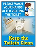 #4: The Kitabwala Sign Keep The Toilets Clean Poster Sign (9