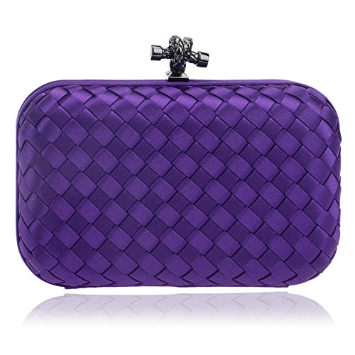 Flada, Poschette giorno donna blu Blue medium Purple