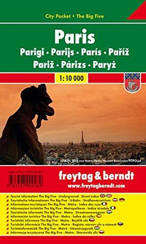 París, plano callejero de bolsillo plastificado. City Pocket. Escala 1:10.000. Freytag & Berndt.: Stadskaart 1:10 000 por VV.AA.